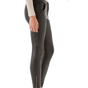 Heidi Merrick VEGAN Leather Zip Ankle Pants NWT